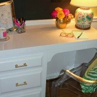 Glam & Organized Desk |The Pink Clutch Blog
