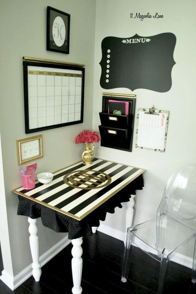Operation organization glam black and white command center 11 magnolia lane - Small office spaces design pict ...