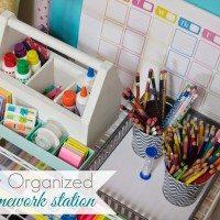 An organized area for school supplies makes homework a breeze