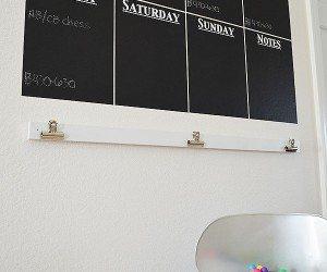 Easy DIY Vinyl Chalkboard Wall Calendar   11 Magnolia Lane