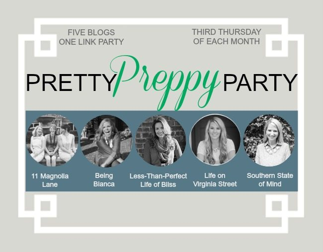 February PRETTY PREPPY PARTY {Link-Up Your Projects!}