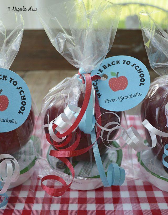 Apple and caramel treats for school | 11 Magnolia Lane