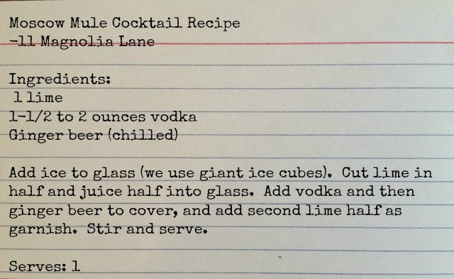 Moscow Mule Cocktail Recipe | 11 Magnolia Lane