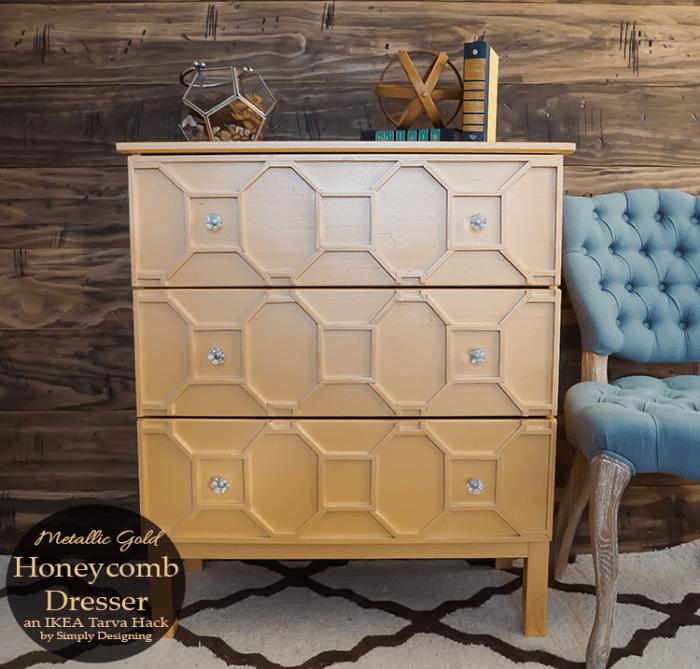 Merallic-Gold-Honeycomb-Dresser