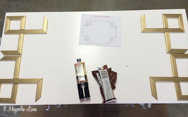 DIY Greek Key Overlay on IKEA Dresser | 11 Magnolia Lane