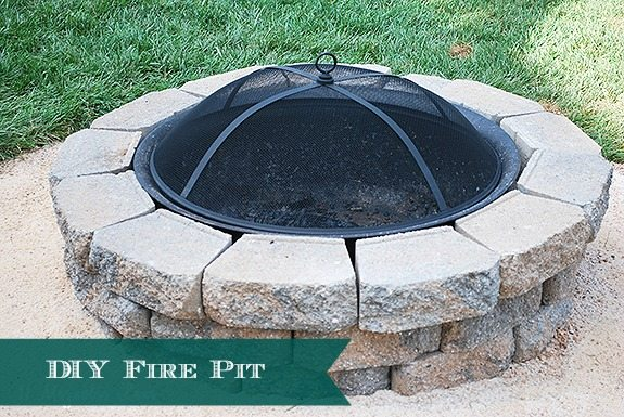 How to DIY a Backyard Fire Pit {Easy Weekend Project}
