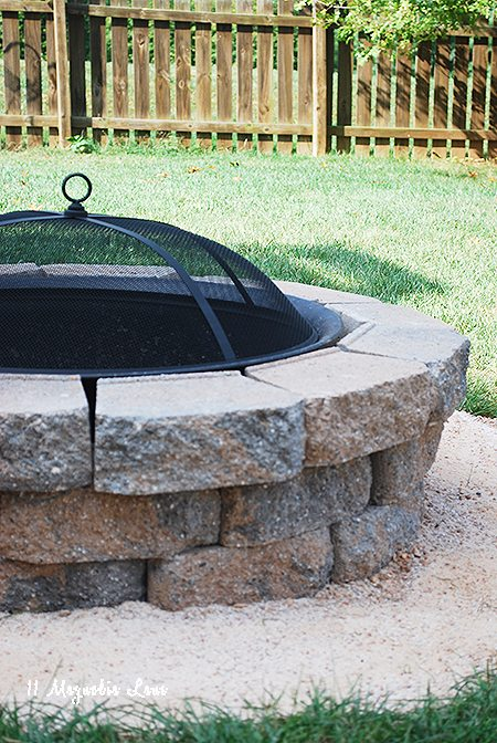 Easy Diy Backyard Fire Pit : How to build a DIY a backyard fire pit  11 Magnolia Lane