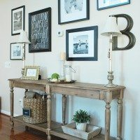 Gallery Wall, console table