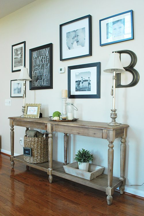 New Hallway Gallery Wall & Console Table