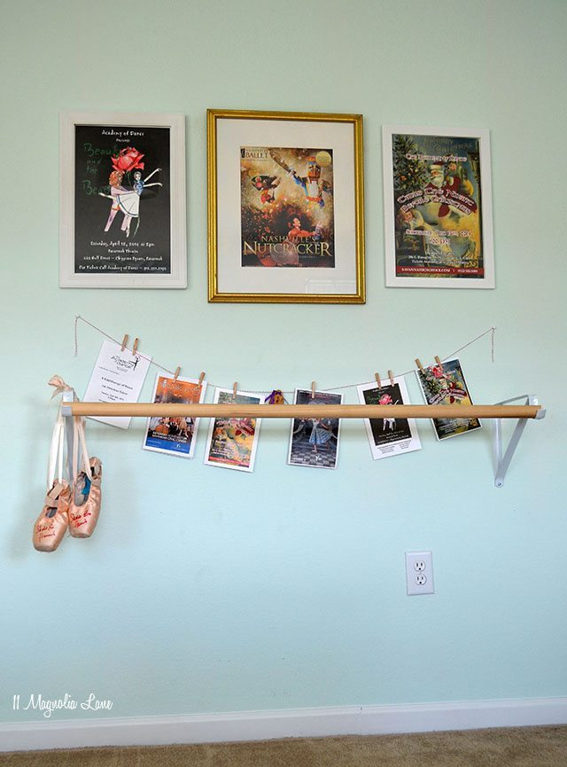 DIY ballet barre   11 Magnolia Lane