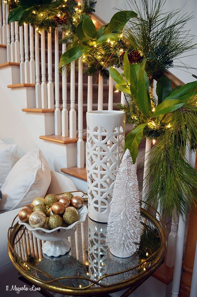 White and gold Christmas decor   11 Magnolia Lane