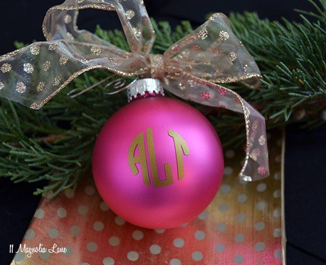 Monogrammed Christmas Ornaments | 11 Magnolia Lane