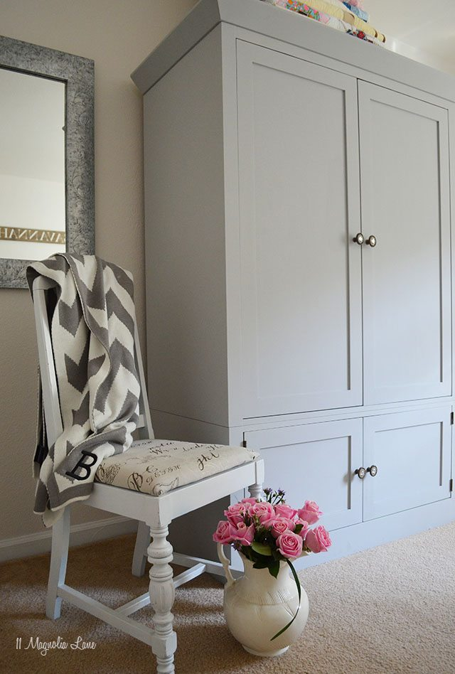 A Grey Armoire for My Guest Room