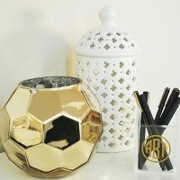 Giveaway:  Set of Three Round Gold Monograms