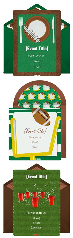 E-invitations for Super Bowl from Punchbowl | 11 Magnolia Lane