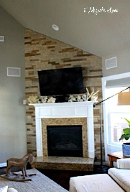 DIY Fireplace Makeover with Air Stone | 11 Magnolia Lane