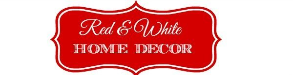 Red and White Home Decor Header