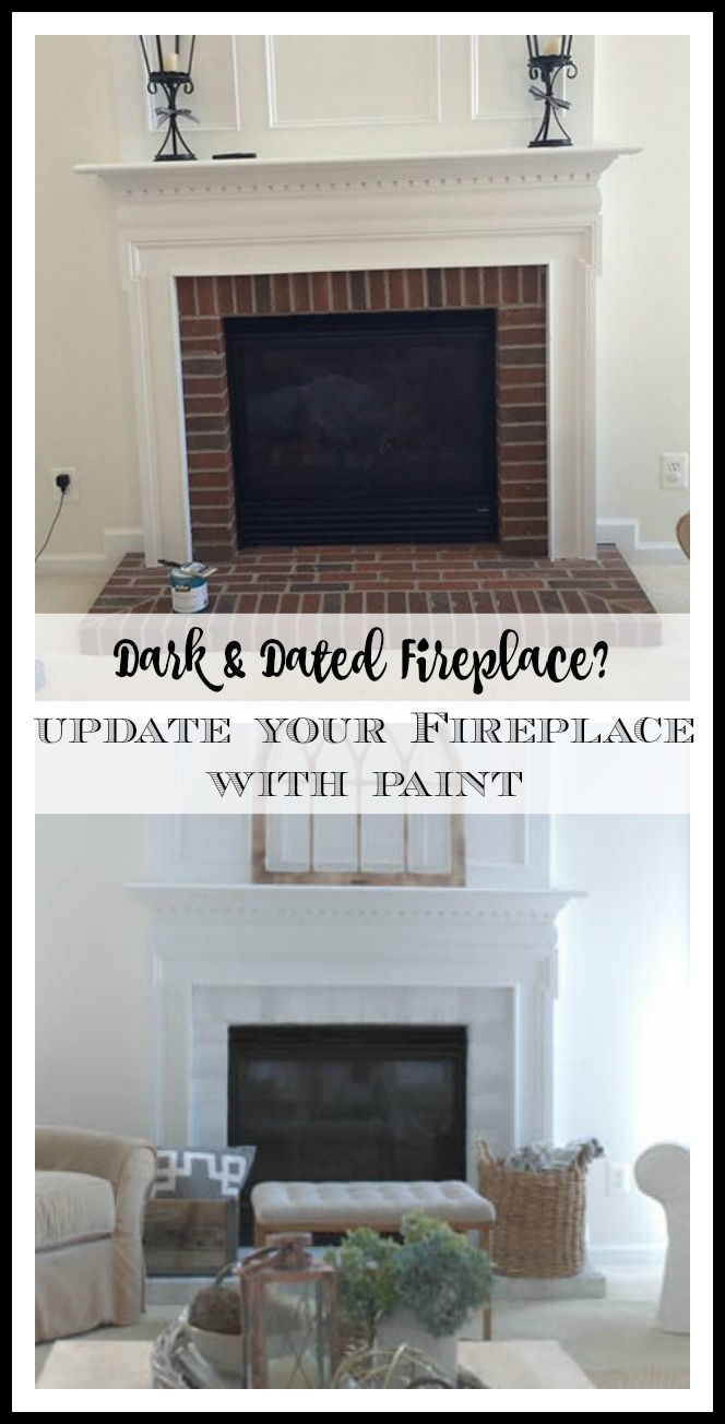 how to paint your brick fireplace surround 11 magnolia lane