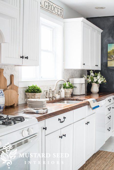 Kitchen Backsplash With Butcher Block Countertops : Our Favorite Decorating Trends in Tile, Stone & Wood 11 Magnolia Lane