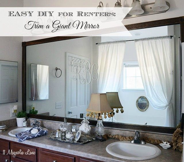 easy diy for renters trim a giant mirror 11 magnolia lane