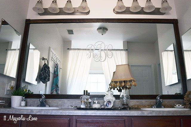 Easy DIY Tutorial Adding Trim Around a Giant Mirror For Renters