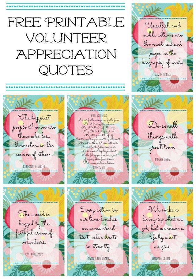 Free Floral Printables for Volunteer or Teacher Appreciation | 11 Magnolia Lane