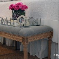 Updates in the Master Bedroom–A New Bench