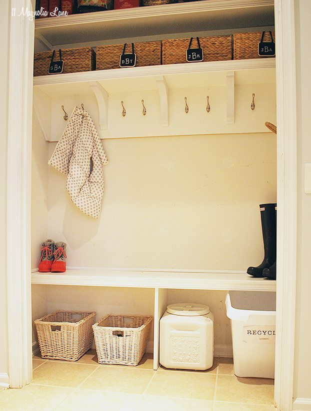 How To Turn A Closet Into A Mudroom 11 Magnolia Lane