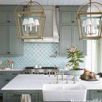 Beautiful kitchen in blues from Urban Grace Interiors | 11 Magnolia Lane