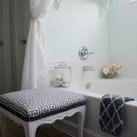 Our Aqua and Grey Master Bathroom