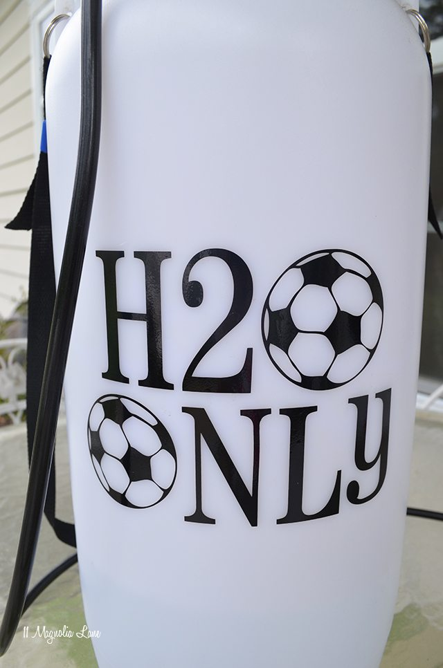 Easy Cool-Down Soccer Sprayer {and a New Giveaway!}