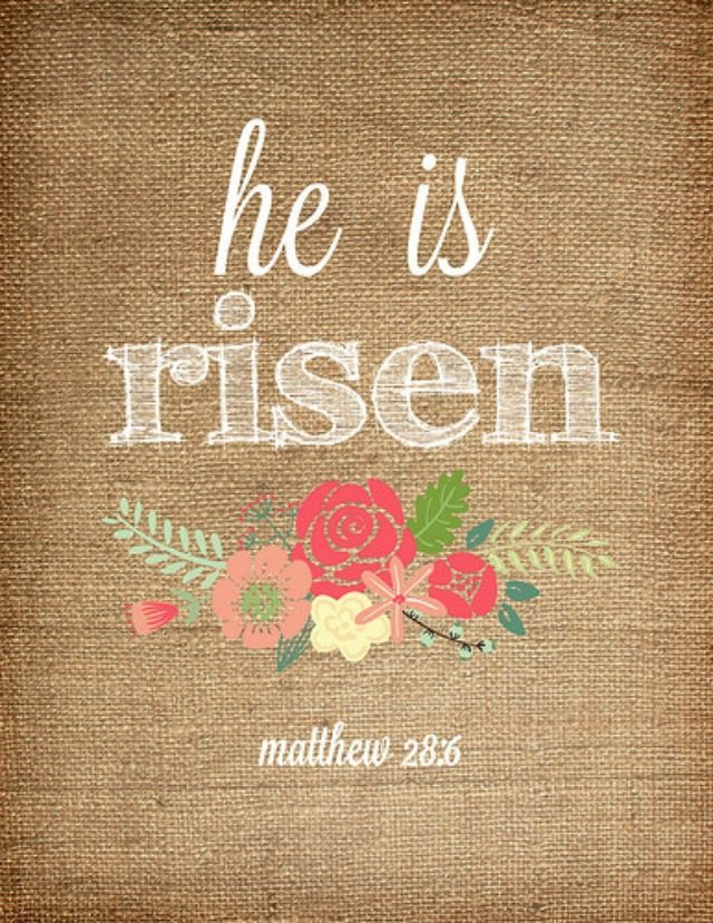 It's just an image of Wild He is Risen Printable