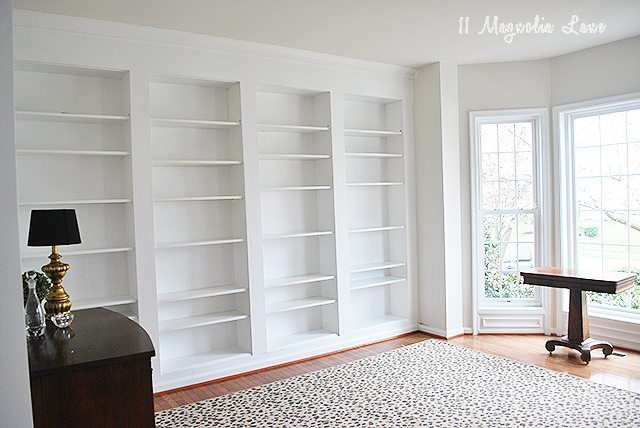 DIY Builtin Custom Bookshelves Using IKEA Billy Bookcases Hack - Diy billy bookcase