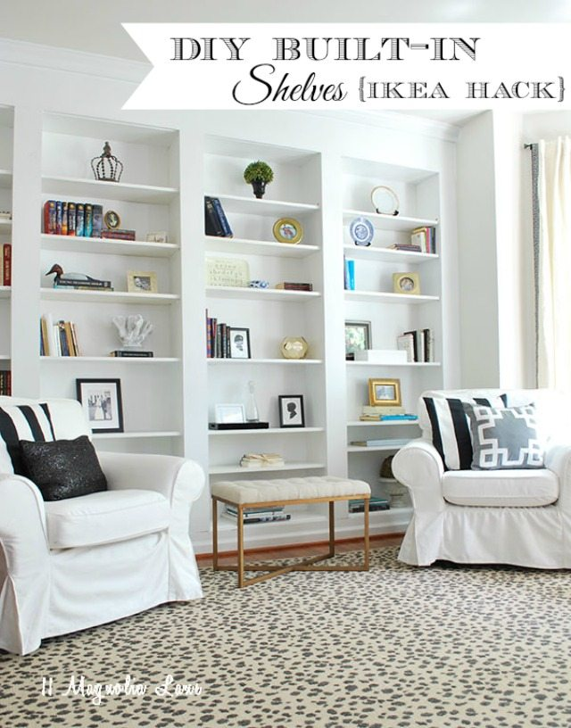 Built-in Bookshelves from IKEA Billy Bookcases–How to do it.
