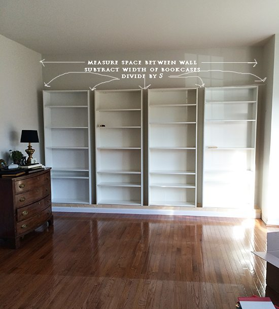 How to build DIY Built In Bookcases from IKEA Billy ...