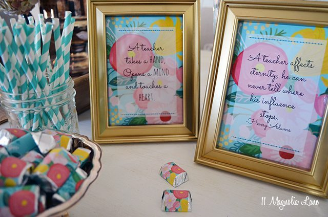 Free printable floral teacher appreciation quotes | 11 Magnolia Lane