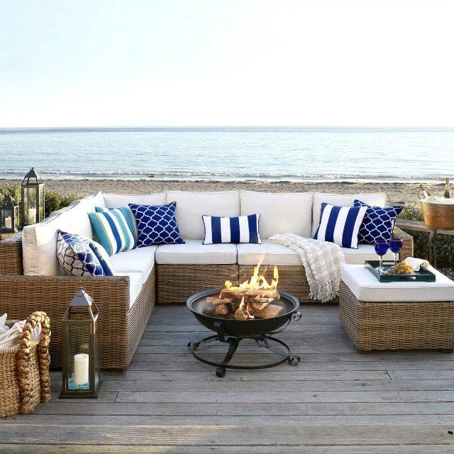 Outdoor Furniture Pier 1 Echo Beach conversation set