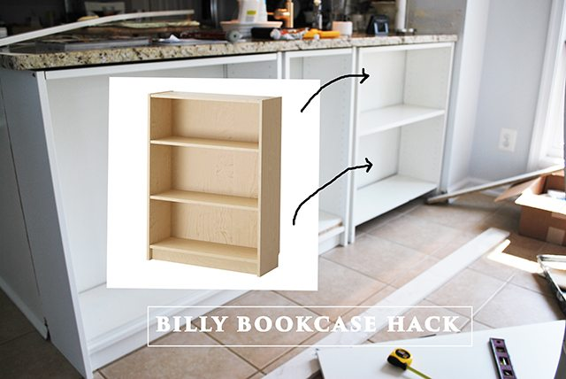 HomeRight Bookcase ChallengeDIY Bookcase To Kitchen Shelves - Diy billy bookcase