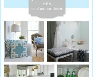 Ways to beat the heat this summer using cool colors in your home decor