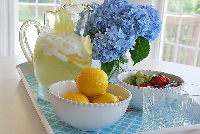 lemonade and snacks