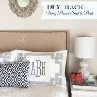 A favorite DIY Hack–Using Glad Press'n Seal for Painting