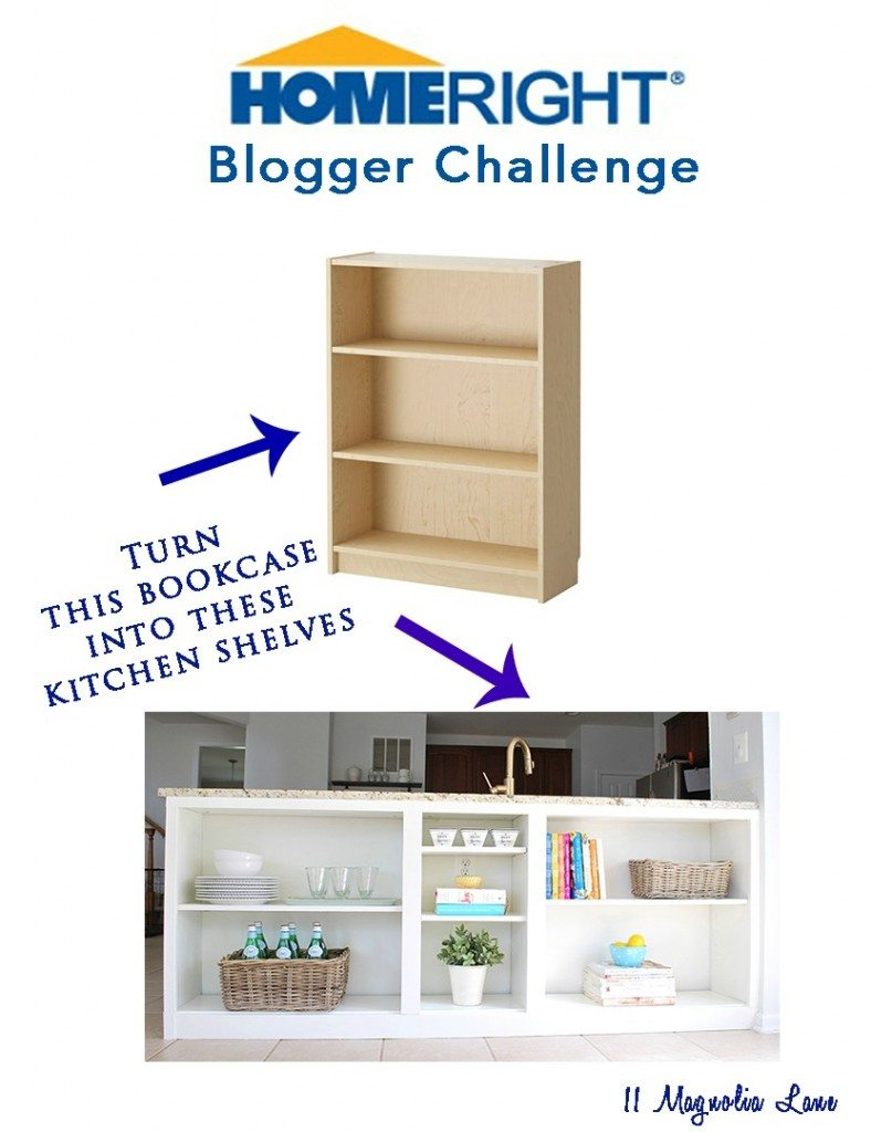 Kitchen Bookcase Homeright Bookcase Challenge Diy Bookcase To Kitchen Shelves 11
