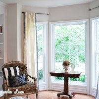 Easy Greek-Key Trimmed Curtains