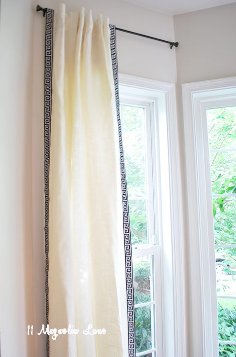Diy Greek Key Trim Curtains 11 Magnolia Lane