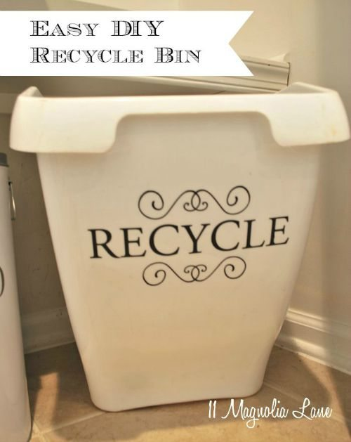 Easy and Cute Recycling Bin