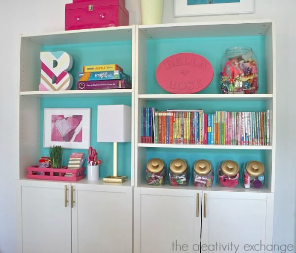 Creative-ways-to-organize-Billy-bookshelves-in-childrens-spaces.-The-Creativity-Exchange