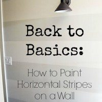 Tutorial:  How to Paint Horizontal Stripes On A Wall