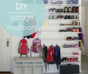 garage mudroom simply organized