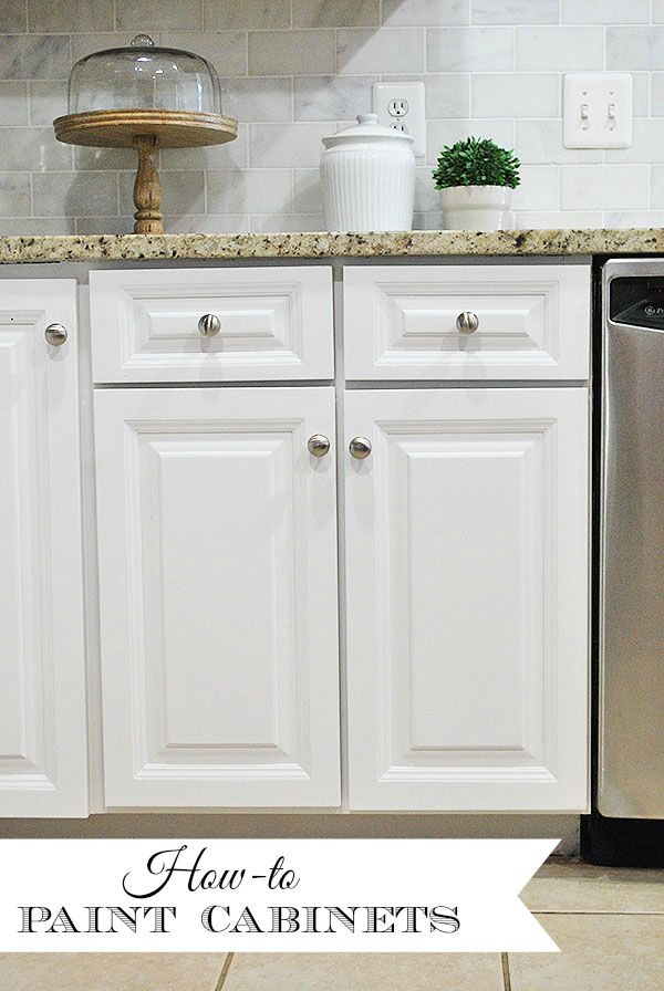 How to paint your kitchen cabinets for a smooth painted finish 11 magnolia lane - How to glaze kitchen cabinets that are painted ...