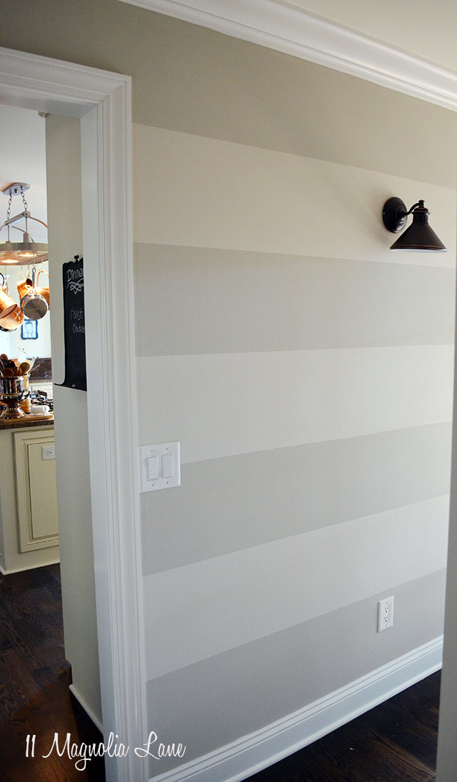 tutorial how to paint horizontal stripes on a wall 11 magnolia lane. Black Bedroom Furniture Sets. Home Design Ideas